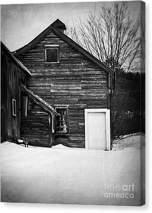 Haunted Old House Canvas Print by Edward Fielding