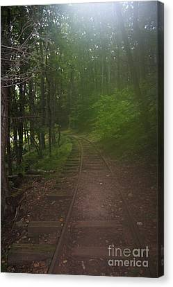 Haunted Ghost Old Rail Tracks Canvas Print by Doc Braham