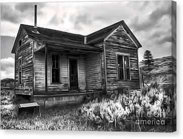 Haunted Shack - 01 Canvas Print by Gregory Dyer