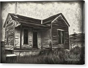 Haunted Shack - 02 Canvas Print by Gregory Dyer