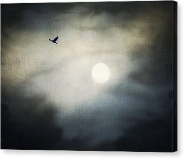 Goth Canvas Print - Haunted Sky by Marianna Mills
