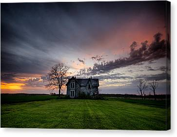 Creepy Canvas Print - Haunted Sunset by Cale Best
