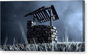 Haunted Wishing Well Canvas Print by Allan Swart