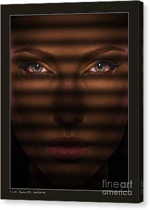 Haunting Eyes Canvas Print by Pedro L Gili