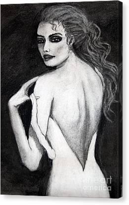Haunting Lady Canvas Print