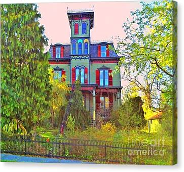Canvas Print featuring the photograph Hauntingly Victorian  by Becky Lupe