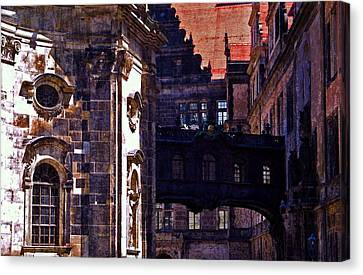 Canvas Print featuring the photograph Hausmann Tower In Dresden Germany by Jordan Blackstone