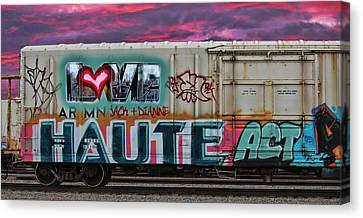 Haute Act   Custom Names Available Canvas Print by Sylvia Thornton