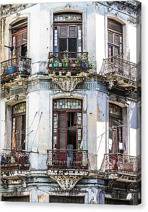 Havana Balconies Canvas Print by Jim Nelson