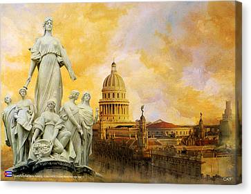 Roca Canvas Print - Havana National Capitol Building by Catf