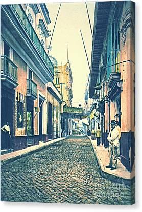 Havana Street Cuba 1899 Canvas Print by Padre Art