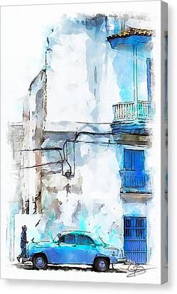 Havana Street Canvas Print by Greg Collins