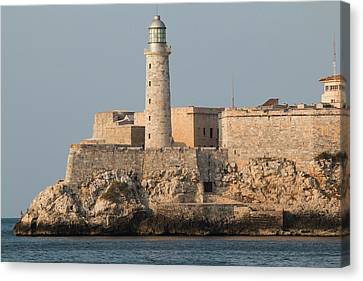 Havana Street Scenes And Malecon Canvas Print by Emily Wilson