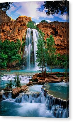 Canyon Canvas Print - Havasu Cascades by Inge Johnsson