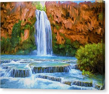 Havasu Falls Canvas Print by David Wagner