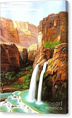 Havasu Falls Grand Canyon Canvas Print