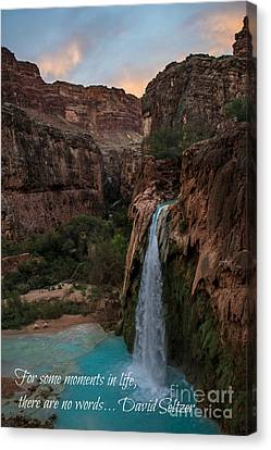 Havasu Falls With Quote Canvas Print