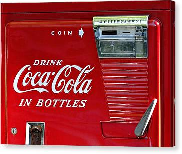 Have A Coke Vintage Vending Machine Canvas Print by Movie Poster Prints
