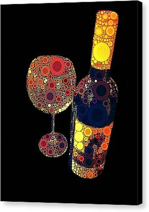 Wine Glasses Canvas Print - Have Some Wine by Cindy Edwards