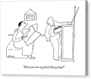 Drawers Canvas Print - Have You Seen My Pistol by James Thurber