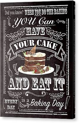 Have Your Cake Canvas Print by P.s. Art Studios