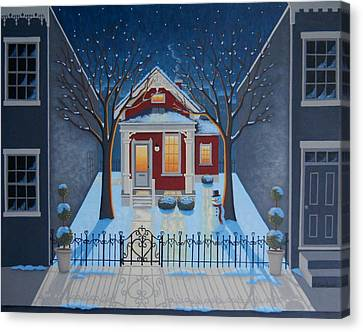 Snowscape Canvas Print - Haven by Mary Charles