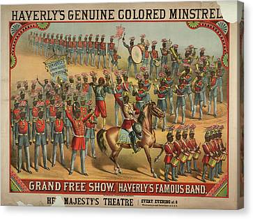 Haverly's Genuine Coloured Minstrels Canvas Print by British Library