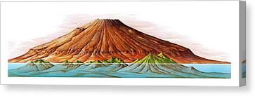 Hawaii And Olympus Mons Canvas Print by Gary Hincks