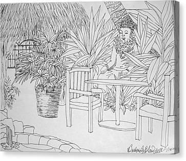 Hawaii Coloring Page Canvas Print