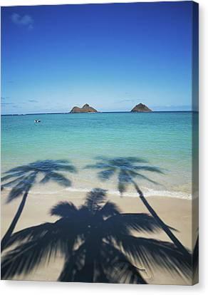 Dinghies Canvas Print - Hawaii Islands, Oahu, View Of Lanikai by Douglas Peebles