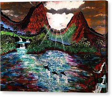 Canvas Print featuring the painting Hawaii  by Michael Rucker