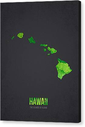 Hawaii The Islands Of Aloha Canvas Print by Aged Pixel