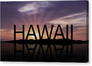Hawaii Tropical Sunset Canvas Print by Aged Pixel