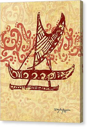 Hawaiian Canoe Canvas Print by William Depaula