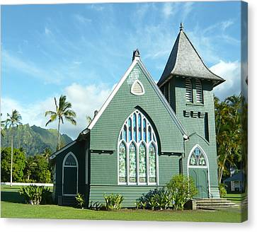 Hawaiian Church Canvas Print by Dee  Savage