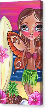 Surfing Art Canvas Print - Hawaiian Fairy by Jaz Higgins
