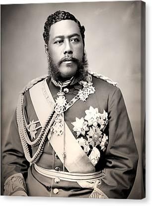 Hawaiian King David Kalakaua 1882 Canvas Print by Mountain Dreams