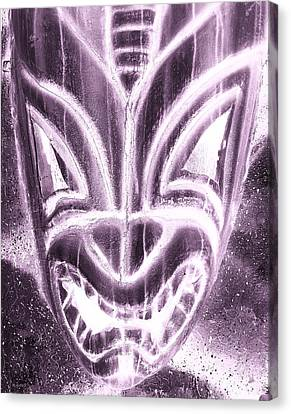 Hawaiian Mask Negative Pink Canvas Print by Rob Hans