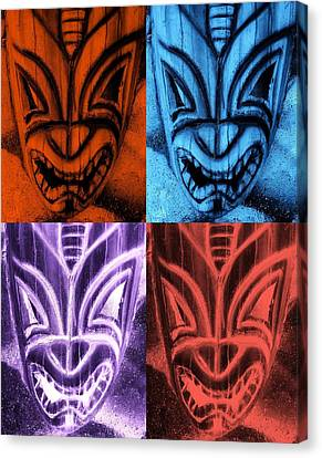 Hawaiian Quad Color Masks Canvas Print by Rob Hans