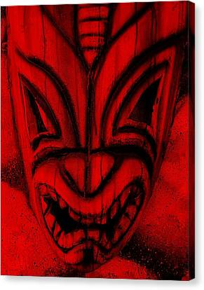 Hawaiian Red Mask Canvas Print by Rob Hans