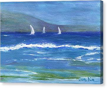 Canvas Print featuring the painting Hawaiian Sail by Jamie Frier