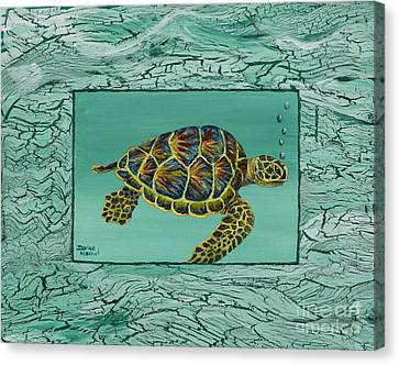 Hawaiian Sea Turtle Canvas Print by Darice Machel McGuire