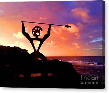 Hawaiian Silhouette Canvas Print by Kristine Merc