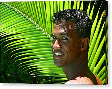 Hawaiian Smile Canvas Print by Douglas Simonson