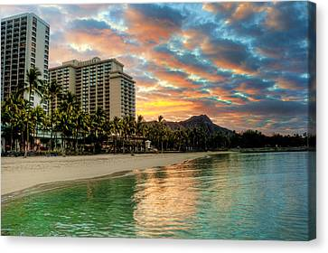 Canvas Print featuring the photograph Hawaiian Sunrise by Brent Durken