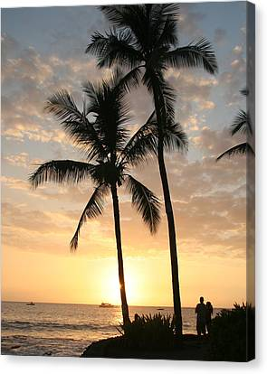 Hawaiian Sunset Canvas Print by John Bushnell