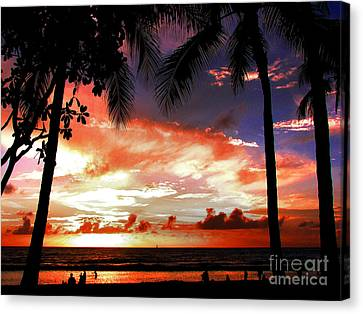 Hawaiian Sunset Canvas Print by Kristine Merc
