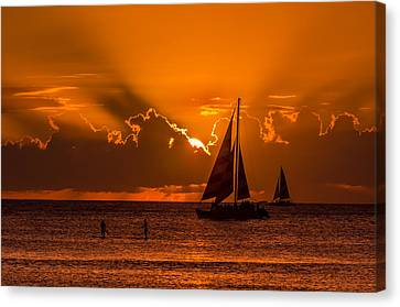 Hawaiian Sunset Canvas Print by RC Pics