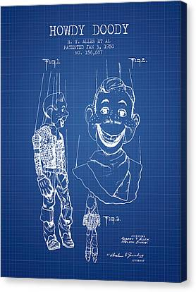 Hawdy Doody Patent From 1950 - Blueprint Canvas Print