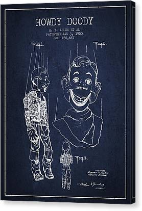 Hawdy Doody Patent From 1950 - Navy Blue Canvas Print